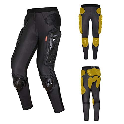 TZTED Pantalones Moto Pantalón Pantalones de Armadura, Motocicleta Todoterreno, Pantalones anticaída Rodilleras para pañales para Montar Equipo de protección Knight para Moto
