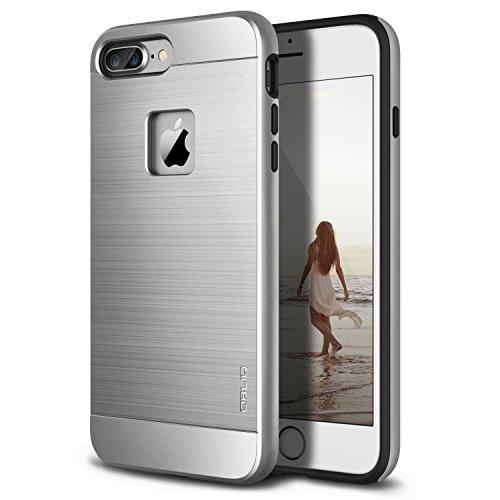Obliq iPhone 8 Plus Case/iPhone 7 Plus Case, [Slim Meta] Slim Metallic Brushed Premium Design Dual Layer Protection for Apple iPhone 8 Plus (2017)/iPhone 7 Plus (2016) (Silver Titanium)