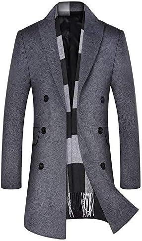 Nomber 3 Colors Men's Woollen Overcoat Autumn Winter Male Business Casual Wool Blend Coat Men Clothing Long Pea Coat
