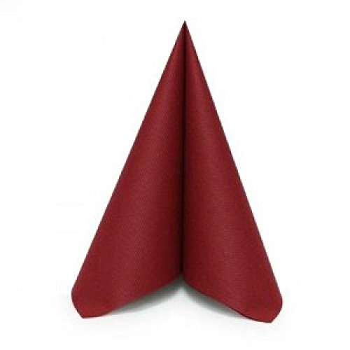 """Simulinen Dinner, Catering & Party Napkins – Burgundy – Decorative Colored Napkin – Durable, Elegant, Cloth Like & Disposable (16""""x16"""", 250 Un-Folded)"""