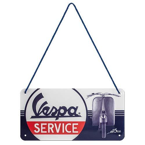 Nostalgic-Art, Plaque à suspendre, Vespa – Service – Idée de cadeau pour les fans de scooters, en métal, Design retro pour la décoration, 10 x 20 cm