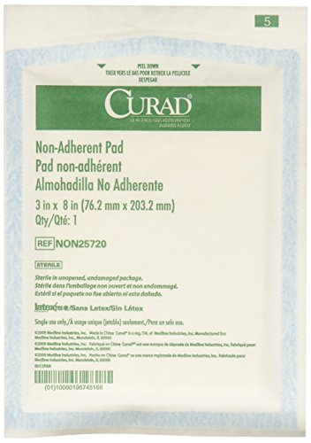 Medline Curad Sterile Non-Adherent Pad, 3'x8' (Pack of 50) - NON25720Z