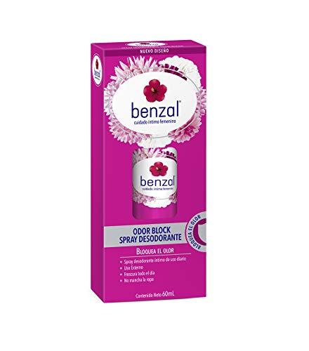 Benzal Desodorante íntimo Femenino, Spray de Uso Diario, Tecnología Odor Block, 60ml