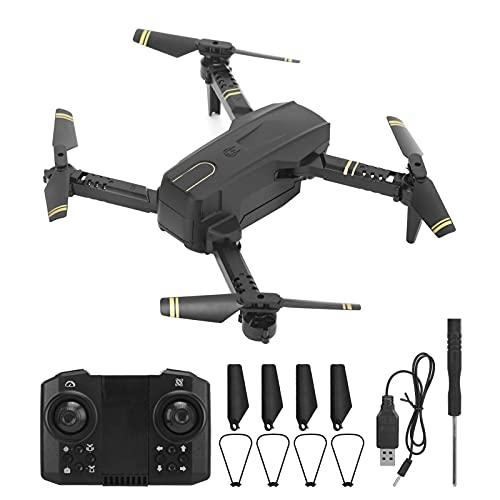 CS12 Mini WiFi Rc Drone con Videocamera 4K HD per Adulti Principianti, Quadricottero RC Volante Stabile e Pieghevole per Bambini, Modalità Senza Testa, Mantenimento Dell'altitudine(Doppia fotocamera)
