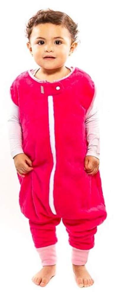 MASHO Toddler Baby Boys Girls Fleece Sleep Bag Jumpsuit Sleeveless Blanket Sleepwear (Pink, 2-4 Years)…