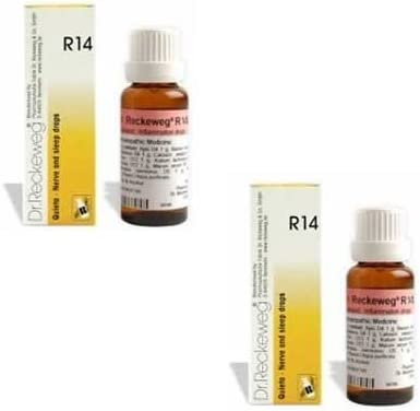 2 X Quality inspection Dr. Reckeweg - R14 Nerve and Fe depot Drops.