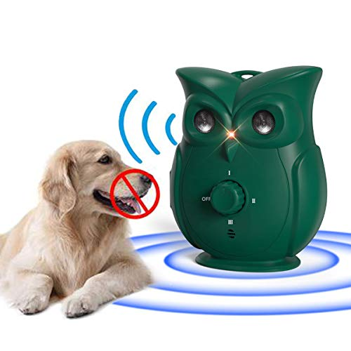 Dog Bark Device Ultrasonic Dog Bark Deterrent Upgrade Anti Bark Device Animal Bark Silencer Corrector Pet Dog Repellent 3 Adjustable Level Stop Dog...