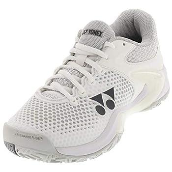 YONEX Women`s Power Cushion Eclipsion 2 Tennis Shoes White and Silver  10.5
