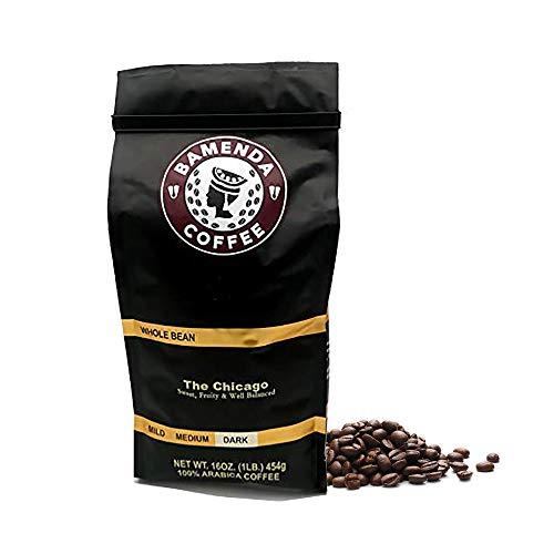 Chicago Roast Bean Dark Roasted Coffee Beans, 100% Arabica and Robusta, Fair Trade Organic, 16-Ounce / 1-Pound Bag Sweet Fruity, and Well Balanced - Bamenda Coffee