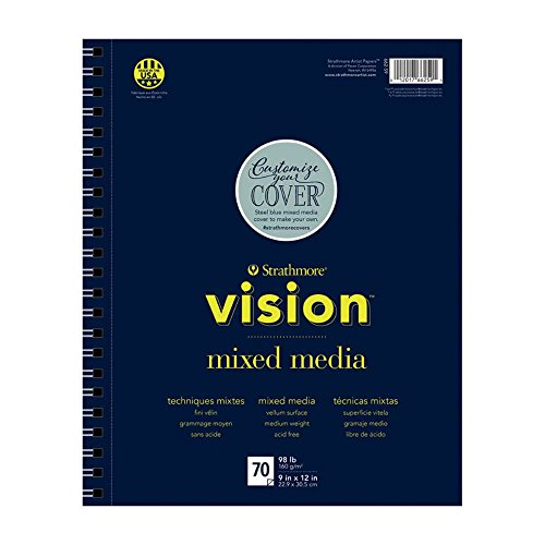 Strathmore 662-59 Vision Mixed Media Pad, 9'x12', White, 70 Sheets