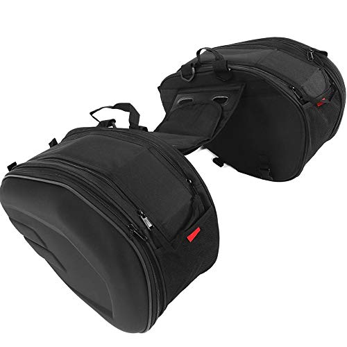 1 Par Alforjas para Moto de Trail de Tela Oxford, Caja de Motocicleta Bolsa de Tanque Bolsa de Motocicleta Impermeable, Capacidad Máxima 29L por Lado