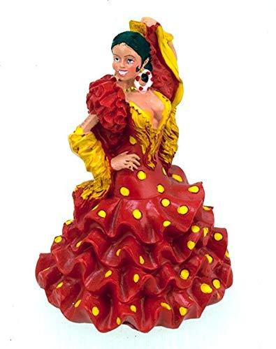 CHAR - Figura de bailarina Flamenco vestido flamenca española andalouse Sevillana 10 cm