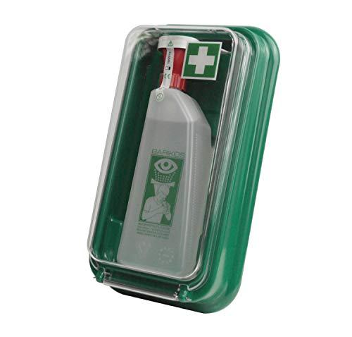 BARIKOS Augenspülflaschen-Set I Wandbehälter inkl. 1x Augenspülflasche 620 ml gefüllt I ph-neutrale Augenspülung auf Wasserbasis ohne chemische Zusätze I Augendusche Erste-Hilfe Set