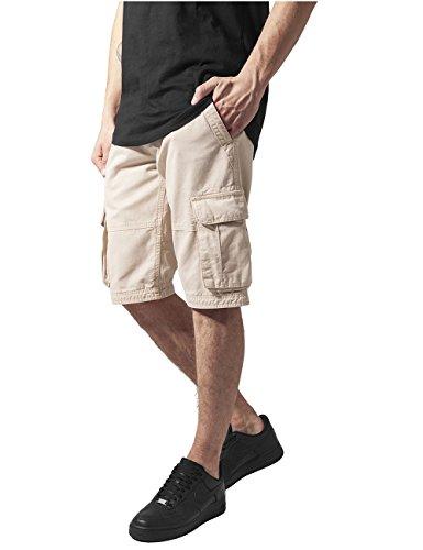 Urban Classics Herren Fitted Cargo Shorts, Beige (beige 3), 42 (Herstellergröße: 28)