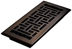 Oriental steel plated - Rubbed Bronze Finish floor register Easy to install - Just drop into vent - no tools required Metal damper boxes rust and seize up so we make our damper boxes with high impact plastic This is not a cheaper option it's the best...