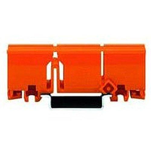 10 Stück Wago Klemmbock zur Befestigung auf Hutschiene für Verbindungsklemme, orange