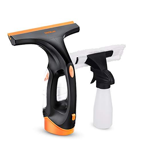 TACKLIFE Limpiador de Ventanas, Inalámbrico, Escobilla de Goma 280mm, Botella de Spray Adicional y Batería de Litio 2200mAH, Eficiente para limpieza Superficie - WC1A