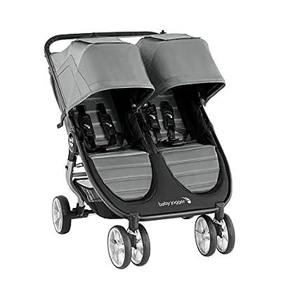 Baby Jogger City Mini2 - Cochecito doble gris luminoso (ral 7035)