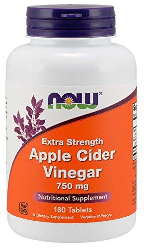 NOW Apple Cider Vinegar - Extra Strength, 750 mg, 180 Tablets