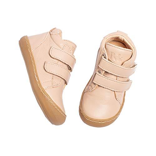 Pyk - Zapatos de bebé para niños y niñas, de piel orgánica, color rosa, tallas 20-25, color Rosa, talla 22 EU