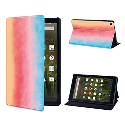 AIYIGEYALI Casos de Libro electrónico Multicolor de Cuero PC Funda for Fire 7 5º 7º 9º Fire HD Shell / 8 / Fire HD 10 Resistente a la caída de la Tableta de protección