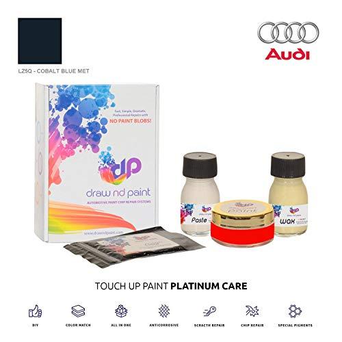 DrawndPaint for/Audi Q3 / Cobalt Blue Met - LZ5Q / Sistema di Vernice da RITOCCO - Corrispondenza ESATTA/Platinum Care