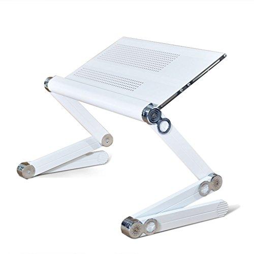 &étagère de rangement Support d'ordinateur portable pliable réglable, table de bureau en alliage d'aluminium noir Support d'écran portable multi-angle Rack de finition