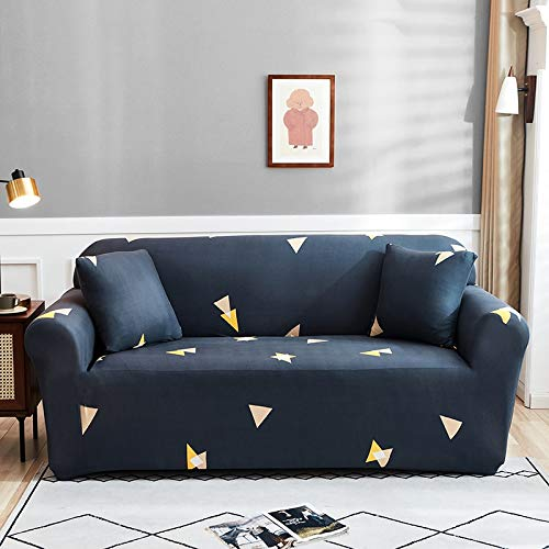 WXQY Funda de sofá elástica con Estampado Floral, Esquina de la Sala de Estar, sillón en Forma de L, Todo Incluido, Chaise Longue, Manta de sofá A23, 4 plazas