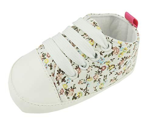Hübsches Baby Sommer Englisch Garten Blumen schnüren Kinderwagen Trainer Creme (13 6-9 Monate)