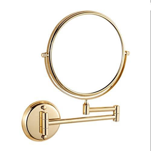 Opvouwbaar vergrootglas met dubbele spiegel voor make-up spiegel van metaal, geschikt voor badkamer, kleedkamer 6-inch mirror-10 x azul claro