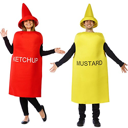 Ketchup and Mustard Costume - Halloween Couples Costumes for Adults - Mascot Costume - Food Costumes by Tigerdoe
