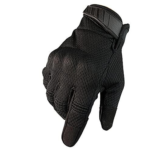 Xiao Guantes De Moto, Guantes para Motocicletas para Hombre Guantes De Motocicleta De Dedo Completo, Pantalla Táctil ATV Guantes De Montar Motocicleta(Size:Medio,Color:Negro)
