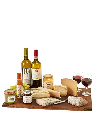 Italian Cheese and Wine Hamper - Our Cheese and Wine Hamper contains all of the essentials for a great party, including organic wines, italian cheeses and delicious cheese accompaniments!