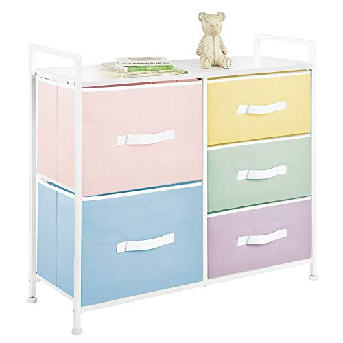mDesign Wide Dresser 5 Drawers S...