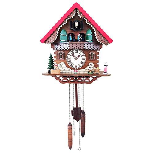 Wgwioo Reloj De Cuco De Cuarzo, Casa De La Selva Negra con Música, Bailarines Giratorios, para Sala De Estar, Dormitorio De Niños, Cocina, Oficina, Decoración del Hogar