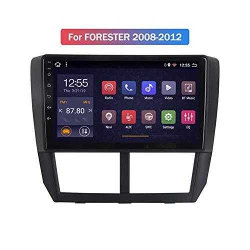 HP CAMP 8 Core Multimedia Coche con Pantalla Táctil para Subaru Forester 2008-2012, Car Stereo Soporte BT/Mirror Link/USB/SWC/Cámara Trasera/FM/Google Map/Multi-Lingual,4g WiFi 2g+32g