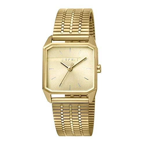 Esprit horloge met schakelarmband, van roestvrij staal