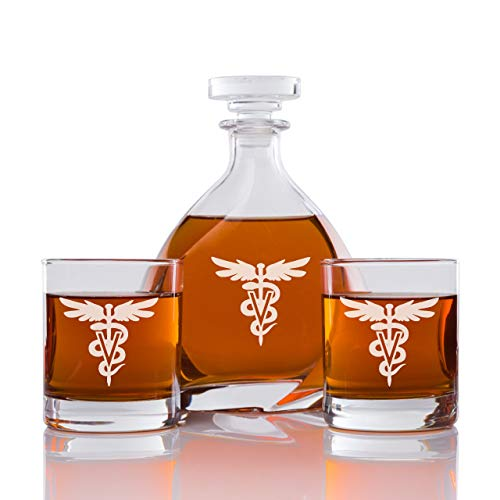 Abby Smith - Madison Whiskey Decanter Veterinarian - Set 3PCS