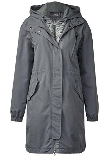 Cecil Damen 100330 Parka, Graphit Light Grey, XX-Large