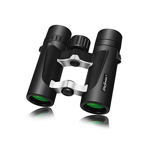 Small Compact Lightweight Binoculars for Travel(Waterproof/Fogproof), Powerful Pocket Binoculars 8x25 for Adults Kids Bird Watching Concerts Sightseeing Hunting Wildlife Watching (BAK4, Green Lens)