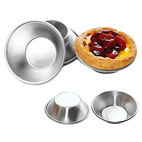 DZANS Stampi per Crostate all'uovo, Mini Tortiere Muffin Cup Teglie per Torta, Stampo per Crostate all'uovo Stampo da Forno Pan Strumento Riutilizzabile (10 PCS)