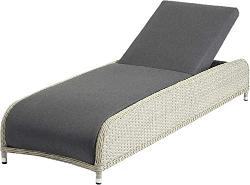 Sol 72 Outdoor Crafted SC Modern Rosalynn Reclining Sun Lounger with Cushion