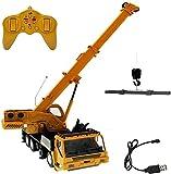UimimiU 2.4 GHz Rc Camión de remolque de grúa con luces y sonido,control de radio de control de radio,control remoto de control de vehículos de construcción for niños niños y niñas cumpleaños regalo d