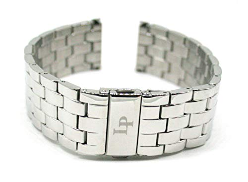 Lucien Piccard 22MM Stainless Steel Band Strap Bracelet 8 Inches Silver Will Fit Clariden Model 11576