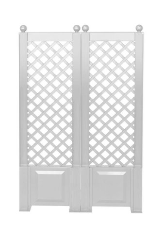 KHW 11204 Rank de Vision et Protection de Treillis, Lot de 2, 140 x 43 cm, Couleur Blanc