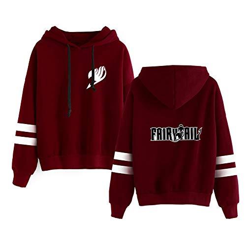 Aivosen Unisex Fairy Tail Sudaderas para Mujeres y Hombres Cuello Redondo Suelto Jerseys Mantener Caliente Sweatshirts Deportivo Suéter