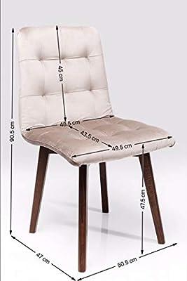 Kare Lot de 2 chaises Moritz Velvet Gris argenté