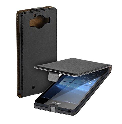 yayago Flip Tasche für Microsoft Lumia 950 Hülle Flip Hülle Schwarz