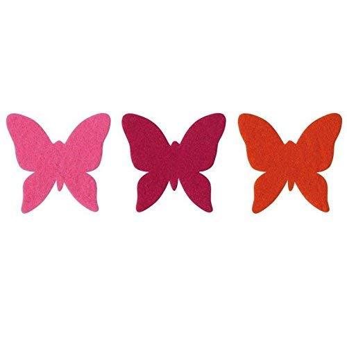 OZ INTERNATIONAL Lot de 150 formes adhésives en feutrine papillons assortis