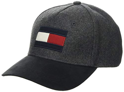 Tommy Hilfiger Herren Baseball Cap Big Flag Mix, Grau (Grey 0IT), One Size (Herstellergröße:OS)